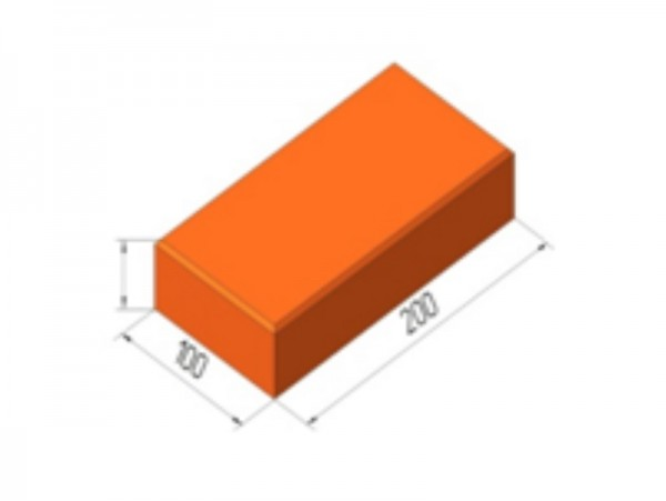 Брусчатка Пв 1 полнотелая 200х100х52
