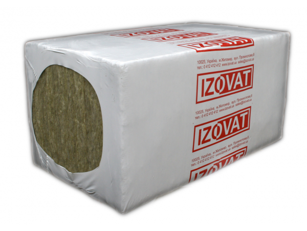 Плита базальтовая IZOVAT 145 150х600х1000 мм (1,2м2)