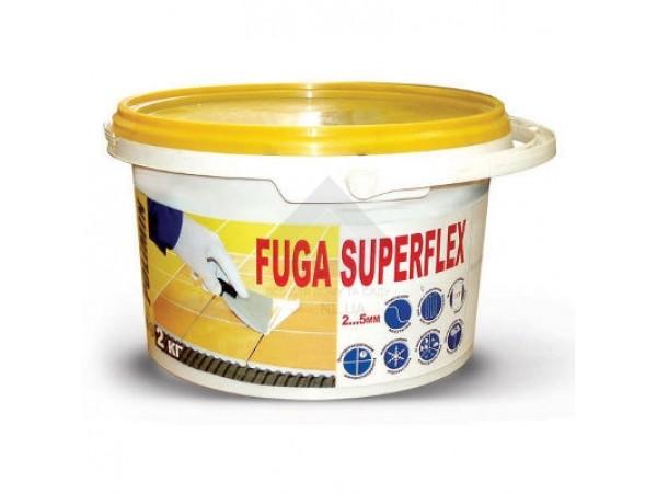 Заполнитель швов FUGA SUPERFLEX белый (2кг) (дой-пак)