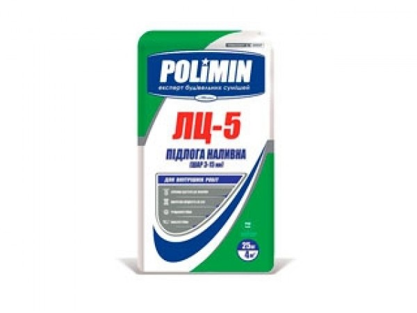 Смесь Полимин для пола подготовительная наливная ЛЦ-5 (25кг)