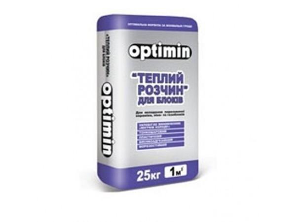 Клей монтажный для газо-пенобетона Optimin 25кг