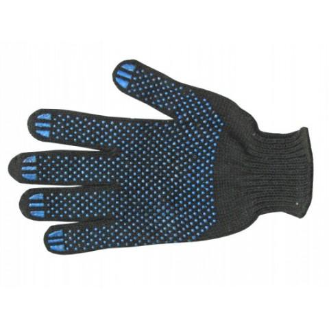 Перчатки, 4 нити с ПВХ-Точка, черные (8411)