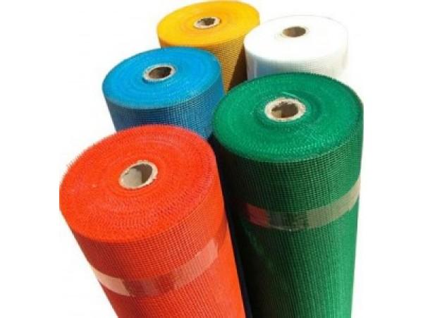 Сетка штукатурная 6х5мм 1х50м плотность 145гр/м2 F2 цветная