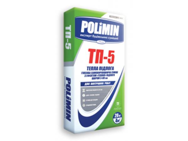 Пол ПОЛИМИН теплый гипсовый ТП-5 (20кг)